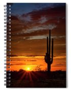 Orange Ya Beautiful Skies  Spiral Notebook