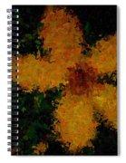 Orange-yellow Flower Spiral Notebook