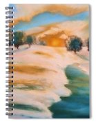 Oranges In The Snow-landscape Painting By V.kelly Spiral Notebook