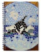 Orca Mosiac Spiral Notebook