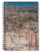 Orchard With Flowering Apple Trees Spiral Notebook