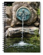 Orchid Fountian Spiral Notebook