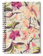 Orchid Pattern Spiral Notebook
