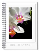 Orchid Spring Poster Spiral Notebook
