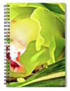 Orchid With Yellow And Green 2 Spiral Notebook