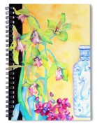 Orchids And Blue Vase Spiral Notebook