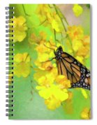 Orchids And Butterfly Painting Spiral Notebook