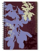 Orchids Cocoa-lavender  Spiral Notebook