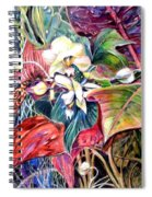 Orchids In White Spiral Notebook