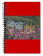 Order Of Polka Dots Emblem Float - Side View - Colored Pencil Spiral Notebook