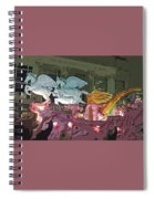 Order Of Polka Dots - Side View -- Cutout Spiral Notebook