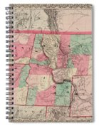 Oregon And Washington Territory Spiral Notebook