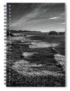 Oregon Coast At Sunset Spiral Notebook