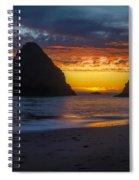 Oregon Coast Sunset Spiral Notebook