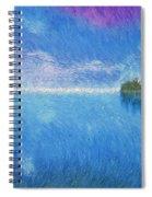 Oregon Coast Twilight Spiral Notebook