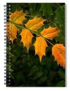 Oregon Grape Autumn Spiral Notebook