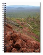 Oregon Landscape - Red Rocks At Lava Butte Spiral Notebook