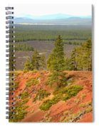 Oregon Landscape - View From Lava Butte Spiral Notebook