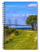Oresund Bridge With Cabanas Spiral Notebook