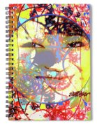Oriental Garden Moon Spiral Notebook