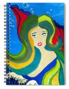 Japanese Mermaid Bubbles  Spiral Notebook