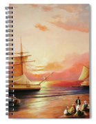 Oriental Sailor Chiefs Gathered For A Meeting On The Shores Of The Black Sea Spiral Notebook