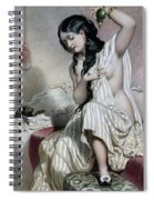 Oriental Woman At Her Toilet Spiral Notebook