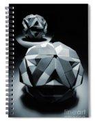 Origami Paper Sphere Spiral Notebook