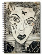 Original Devil Block Print Spiral Notebook