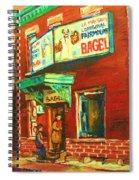 Original Fairmount Bagel Spiral Notebook