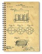 Original Patent For Canning Jars Spiral Notebook
