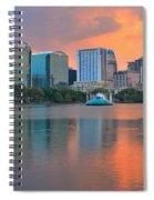 Orlando Cityscape Sunset Spiral Notebook