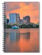 Orlando Skyscrapers And Palm Trees Spiral Notebook
