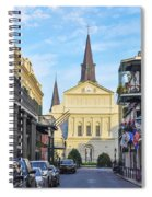 Orleans Street And St Louis Cathedral Spiral Notebook