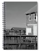 Ormond Yacht Club Black And White Spiral Notebook
