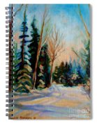 Ormstown Quebec Winter Road Spiral Notebook
