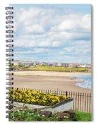 Ornamental Boat Against Tynemouth Coastline Spiral Notebook