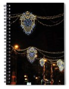 Ornamental Design Christmas Light Decoration In Madrid, Spain Spiral Notebook