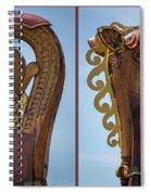 Ornamental Dragon Diptych Spiral Notebook