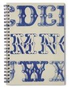 Ornamental Font Spiral Notebook