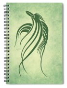 Ornamental Parrot Minimalism Spiral Notebook
