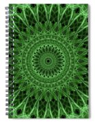 Ornamented Mandala In Green Tones Spiral Notebook