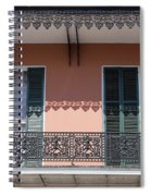 Ornate Balcony In New Orleans Spiral Notebook