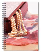 Ornate Box Carved And Pearl Necklace Detail Spiral Notebook