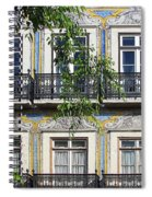 Ornate Building Facade In Lisbon Portugal Spiral Notebook