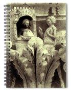 Ornate Building Frieze Spiral Notebook