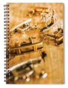 Ornate Rocking Horse Memoirs  Spiral Notebook