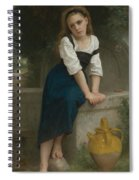 Orphan At The Fountain Spiral Notebook