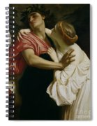 Orpheus And Euridyce Spiral Notebook