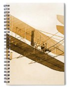 Orville Wright In Wright Flyer 1908 Spiral Notebook
